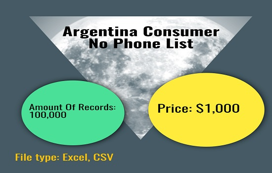 Argentina Consumer No Phone List