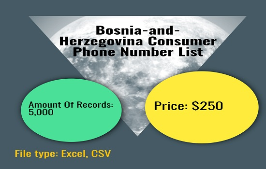 Bosnia And Herzegovina Consumer Phone Number List