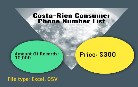 Costa Rica Consumer Phone Number List