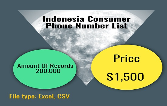 Indonesia Consumer Phone Number List
