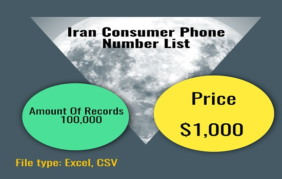 Iran Consumer Phone Number List