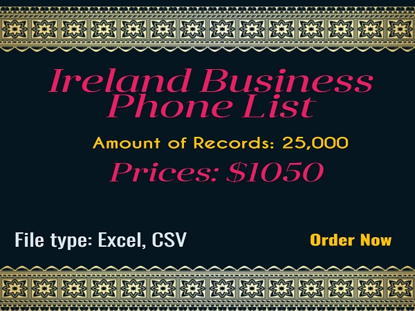 Ireland Business Phone List