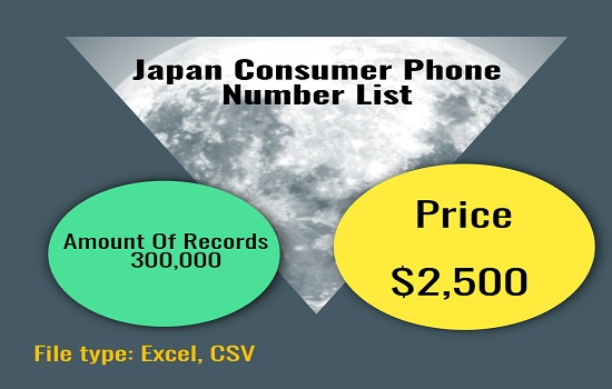 Japan consumer phone number list