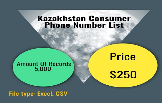 Kazakhstan Consumer Phone Number List