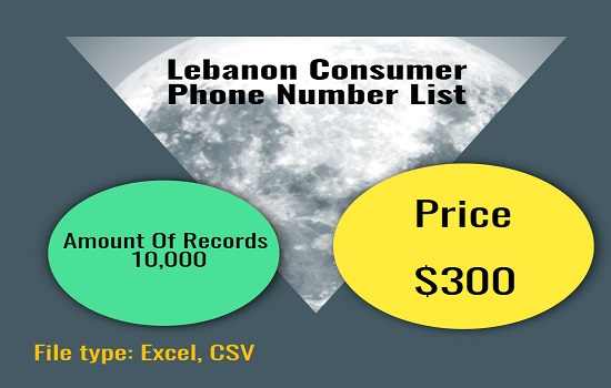 Lebanon Consumer Phone Number List