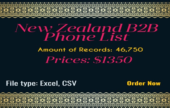 New Zealand B2B Phone List