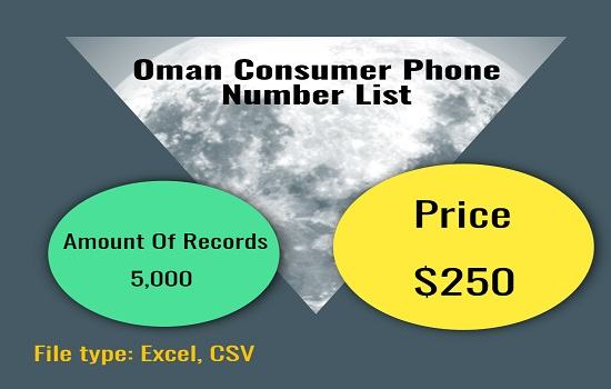 Oman Consumer Phone Number List