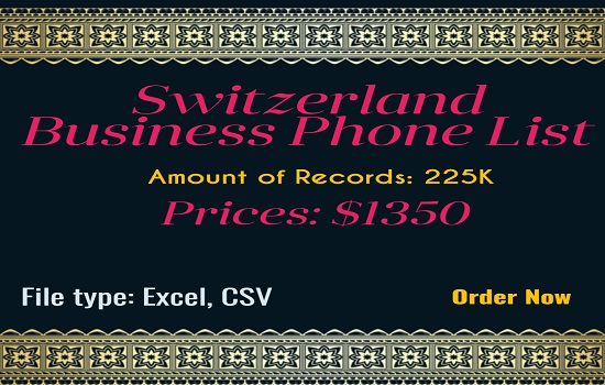 Switzerland Business Phone List