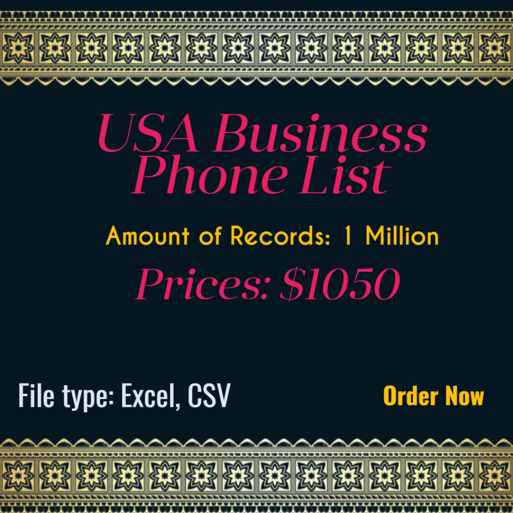 USA Business Phone List