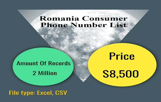 Romania Consumer Phone Number List