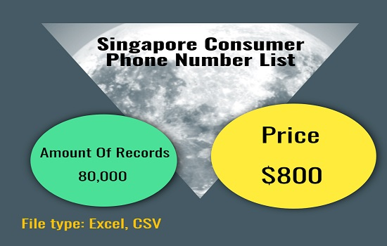 Singapore Consumer Phone Number List