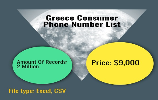 Greece Consumer Phone Number List
