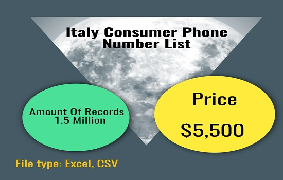 Italy Consumer Phone Number List